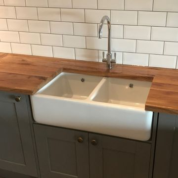 Stone Heat Ltd - Kitchens - Kitchen Sink and Wooden Worktop - Loughton