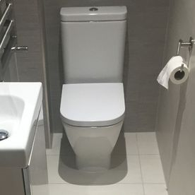 Stone Heat Ltd - Bathrooms - Bathroom Installation - White Toilet - Loughton