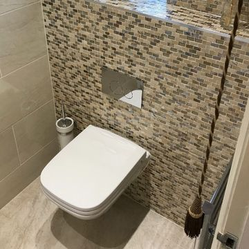 Stone Heat Ltd - Bathrooms - Tiled Cloak Room Toilet - Loughton