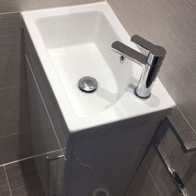 Stone Heat Ltd - Bathrooms - Cloak Room - Bathroom Installation - Sink - Loughton