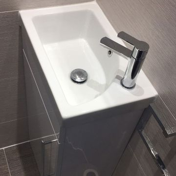 Stone Heat Ltd - Bathrooms - Tiled Cloak Room Sink - Loughton