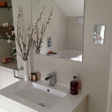 Stone Heat Ltd - Bathrooms - Mirror and Sink - Loughton
