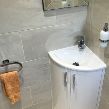 Stone Heat Ltd - Bathrooms - Corner Sink - Loughton
