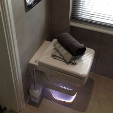 Stone Heat Ltd - Bathrooms - Toilet With Light - Loughton