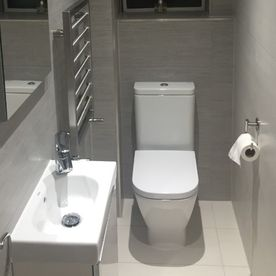 Stone Heat Ltd - Bathrooms - Bathroom Installation - Toilet and Sink - Loughton