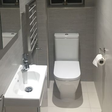 Stone Heat Ltd - Cloak Room - Toilet and Sink - Loughton